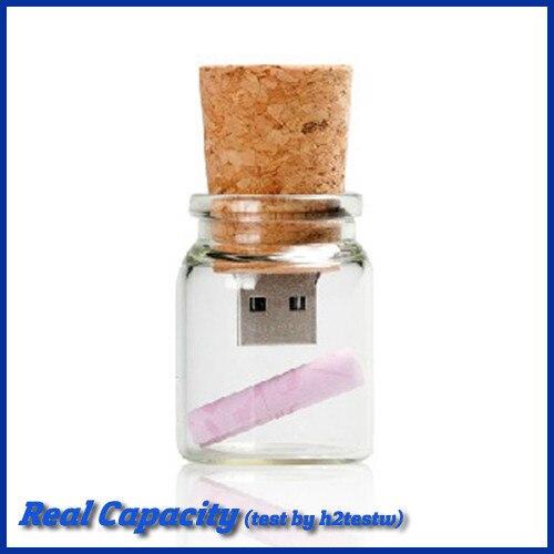 Free shipping usb thumb pendrive 4gb 8gb 16gb 32gb mini pen drive glass bottle with cork usb flash drive