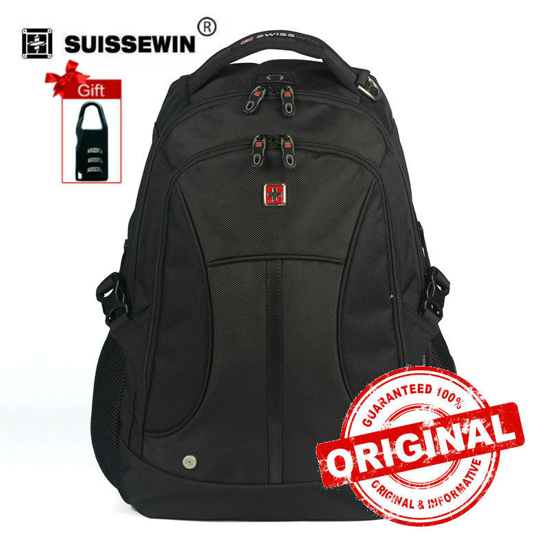 Swisswin Black Business Backpack Male Swiss Military 15.6 Computer Bag Mochila masculino Orthopedic Backpack sac a dos SW6007v cx swiss military sw 2707 cx swiss military