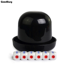Пластиковый стаканчик для игральных костей с 6 кубиками кружки для встряхиваний Алкогольная игра бинго набор кубиков ночной бар игра покер, фишки, кости чашки 5 цветов