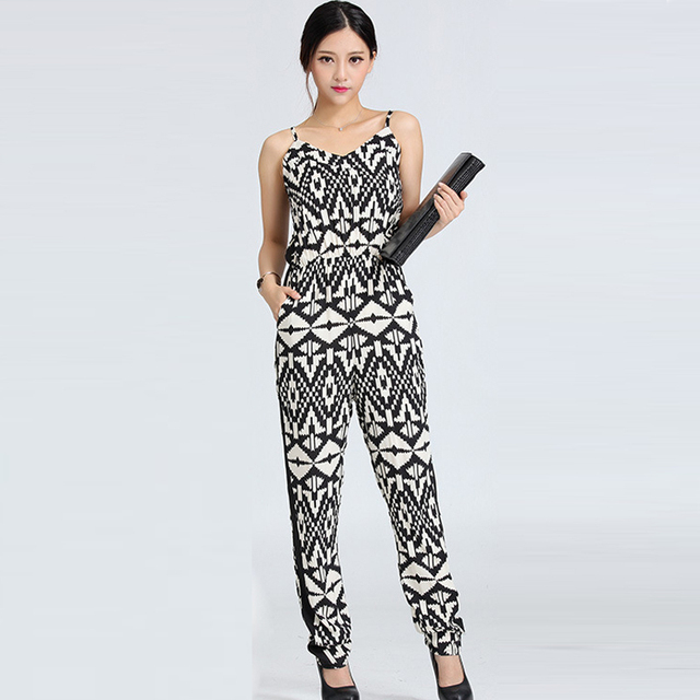 66d8080cb4a New Vogue Pop Printing Rompers Sexy Tank Pops Summer Casual Jumpsuits  Ladies  Sleeveless Elegant Evening Club Wear Size S-L