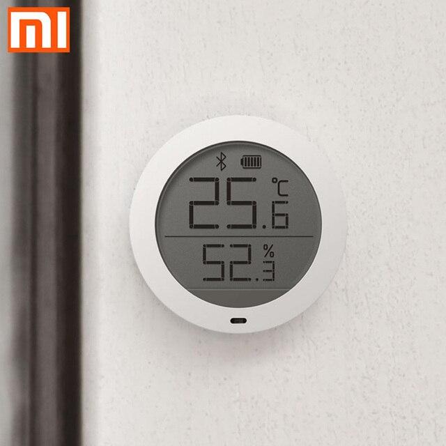 Xiao termómetro digital mi jia con pantalla LCD, Bluetooth, sensor de temperatura inteligente Hu mi dity hu mi, aplicación para hogares