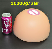 Huge Breast Forms Super Cup 36 K 10000g/pair Milk Silicone Simulation Breast Fake Boobs for Drag Queen Shemale Crossdresser
