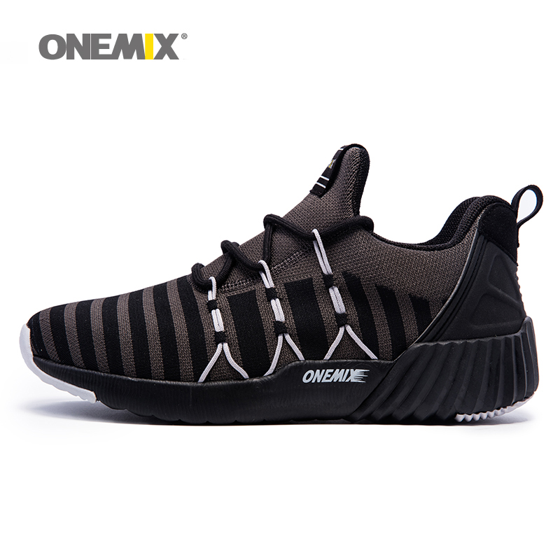 ONEMIX 2018 Men Running Shoes for Women High Top Trail Walking Sneakers Sport Outdoor Trekking Black Gray Athletic Trainers Shoe 2017brand sport mesh men running shoes athletic sneakers air breath increased within zapatillas deportivas trainers couple shoes