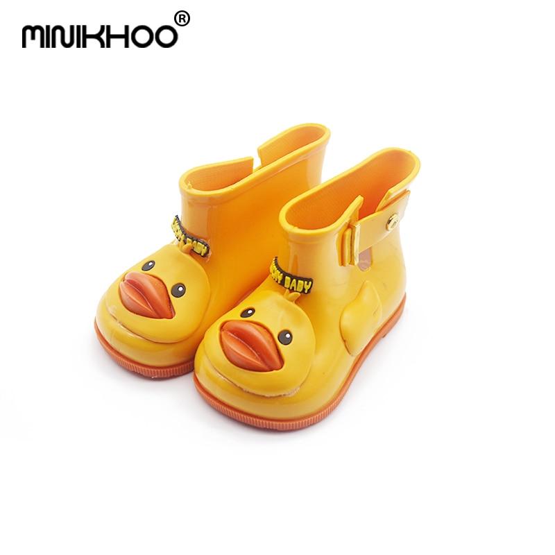 Mini Melissa Ducks Rain Boots Super Cute Boots Children Rain Boots Boys  Baby Girls Kids Rain Boots Water Shoes Fall Winter 9e0c2e1ef3fd