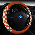 F1 Sport Car Steering Wheel Cover PU Leather 38cm White Red Brown Black Cheap & Free Shipping