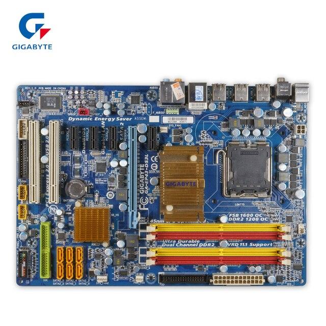 Gigabyte GA EP43 DS3L Desktop Motherboard EP43 DS3L P43 LGA 775 DDR2