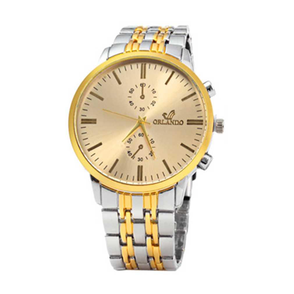 Business Luxury Men Male Stainless Steel Strap Wrist Watch Simple Design Quartz Wrist Watch relogio