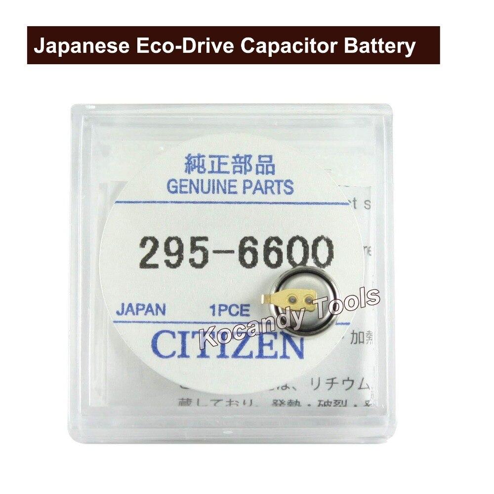 Acumulador de Bateria 295.66 do Capacitor de Panasonc para Citzen Bateria Eco-movimentação Assista Parte Número 295-6600 Relógio Mt616 G820m