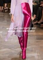 Chaussure Femme 2017 New Designer Extreme Long Waist Boot Celebrity Women Fashion Booties Nightclub Stiletto Crotch High Boots