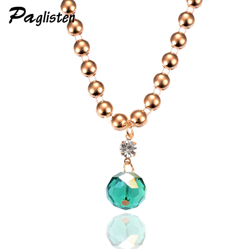 Hot New Fashion Necklace Noble Link Choker Chain Statement Necklace Luxury Shining Charm Crystal Necklaces & Pendants