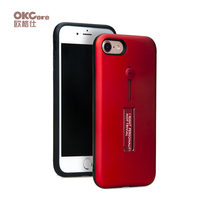 OKCore Protection Case Mobile Phone Soft Ring Metal Holder Stand Hard Back Shell Cover Cases For