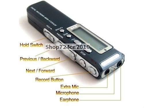 New 4GB Digital Voice/Telphone Audio Recorder+Mp3 player