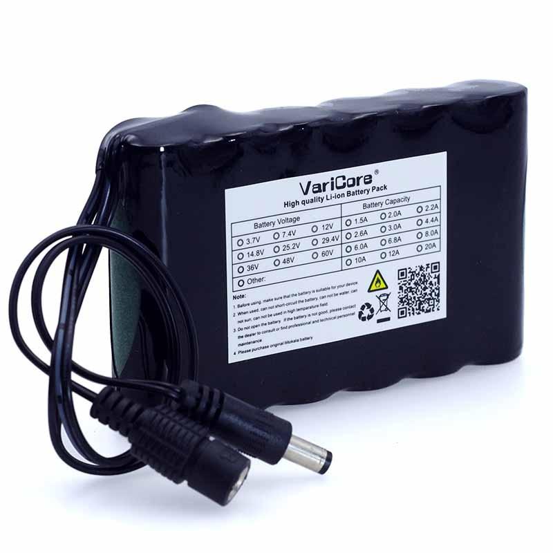 все цены на VariCore Portable Super 18650 Rechargeable Lithium Ion battery pack capacity DC 12 V 6800 Mah CCTV Cam Monitor онлайн