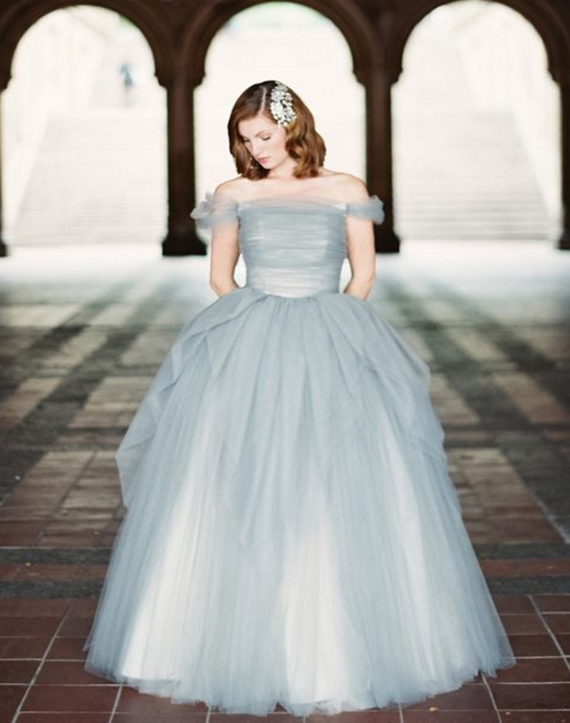 Big Ball Gown Tulle Long Off the Shoulder Evening Dresses Lovely ...