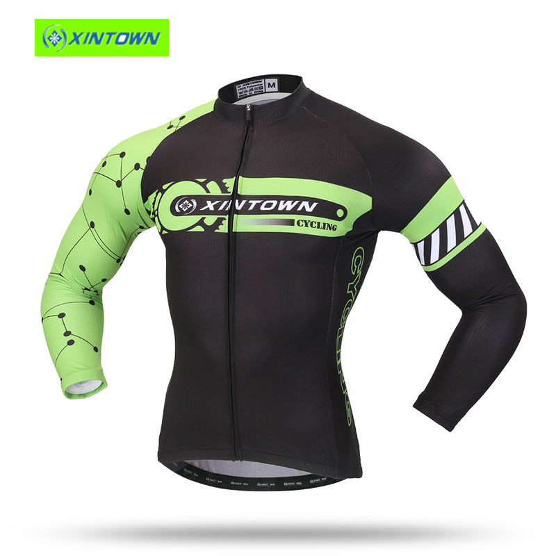 XINTOWN Men Bike Skull Pro Team Cycling clothing Riding motocross Ropa Ciclismo Wear Maillot Long cheap authentic sports jerseys