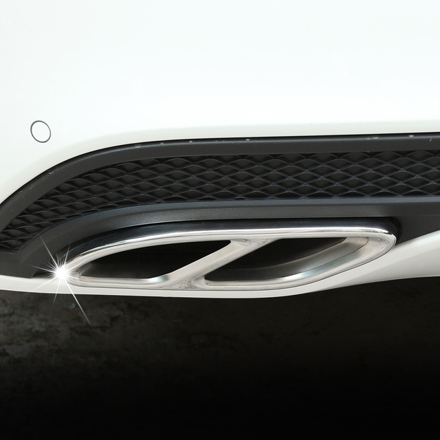 Car Accessories Exhaust Pipe Tail Cover Trim For Mercedes Benz E-Class W213 W205 GLC C A Class A180 A200 W176 2015 2016 2017 AMG