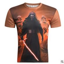 New Arrival Men Star Wars Top 2016 3D T shirt Short Sleeve T-Shirt Print Funny Male Tee shirt Camisetas WAIBO BEAR
