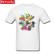 9e870d5ecd6e3 Plus Size Splatoon T Shirt for Men Awesome Summer Short Sleeves T Shirt  Homme 80S Vintage