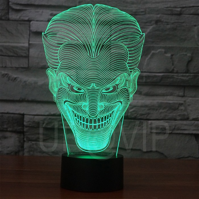JC-2832 Amazing 3D Illusion led Table Lamp Night Light with joker shape (2)