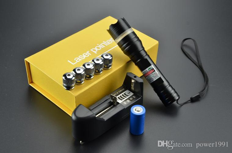 Adjustable 532nm 6in1 Green Laser Pointers Light High Power 20000mw Battery Charger