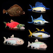 40cm Simulation Flounder Stuffed Toys Sea Animals Plush Toy Soft Flatfish Plush Dolls For Children Gifts недорого