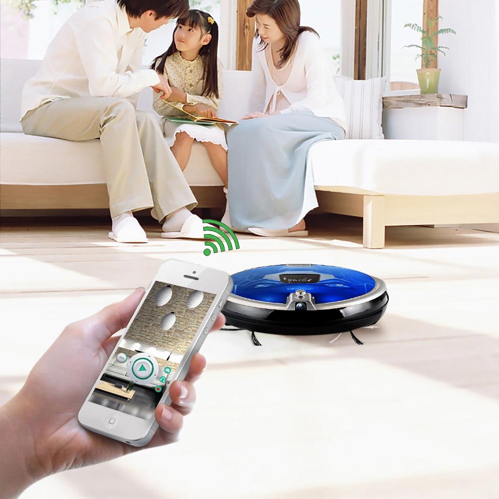 JISIWEI 2017 S+Smart Robotic Vacuum Cleaner For Home Mobile APP Remote Control TPU Avoidance Sensor HD Camera Robot Mopping Tool fundamentals for control of robotic manipulators