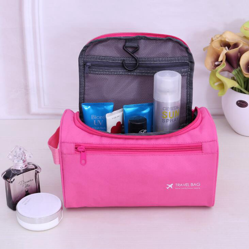Casual Men Hanging Cosmetic Bag Business Makeup Case Women Travel Make Up Zipper Organizer Storage Pouch Toiletry Wash Bath Kit