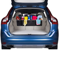 2 in 1 Trunk Back Seat Organizer Space Saving High Capacity Auto Trunk Storage Bag for Any Car SUV M8617