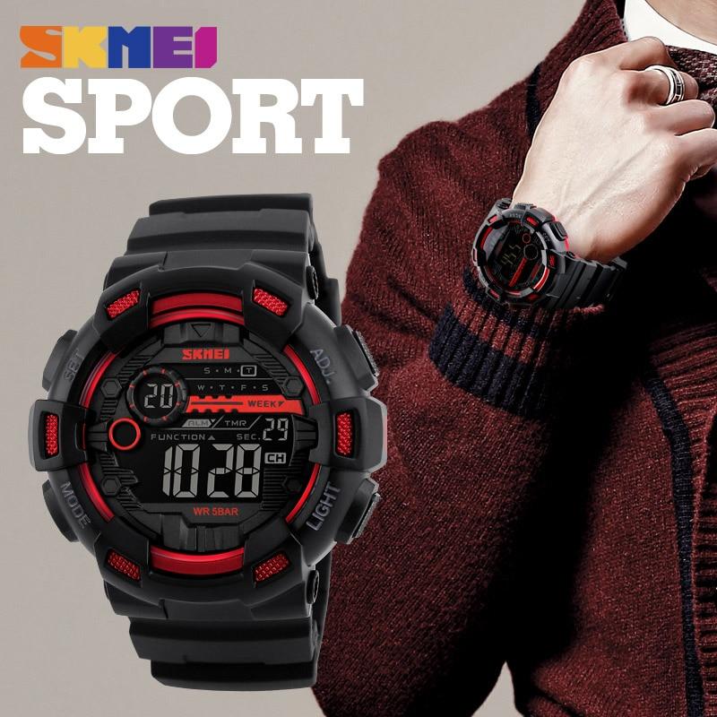 SKMEI Zegarek sportowy męski 50M wodoodporny podświetlany LED - Męskie zegarki - Zdjęcie 5