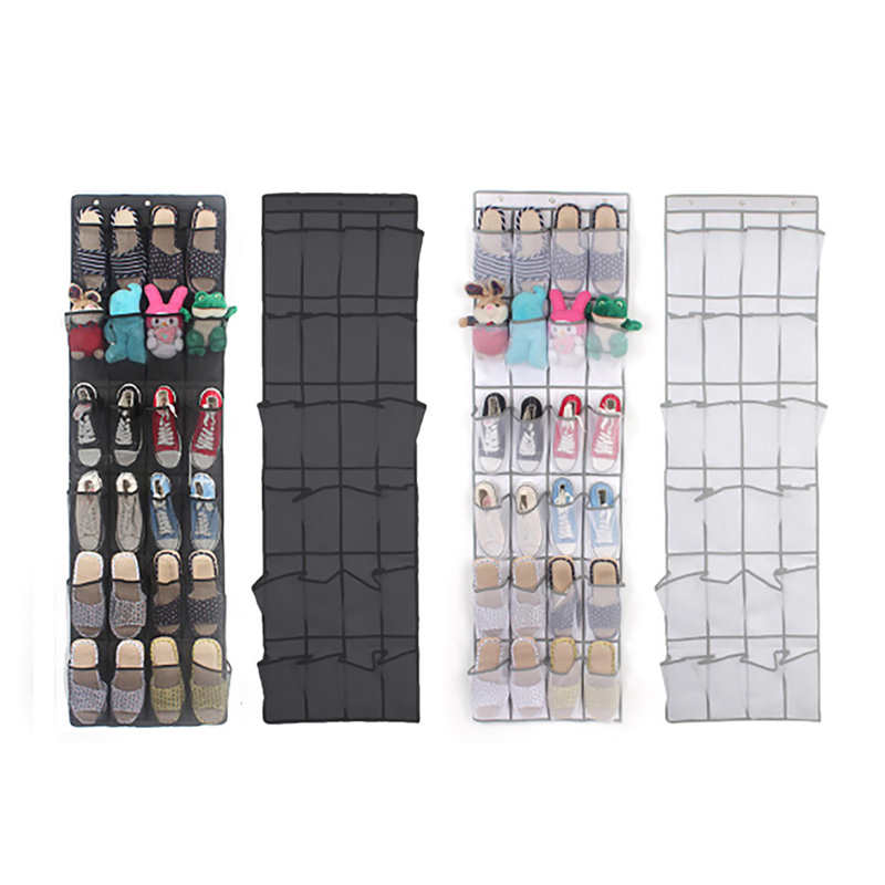 24Pocket Hanging Shoe Organizer Mounted on for Household Use to Save Space at Home 1