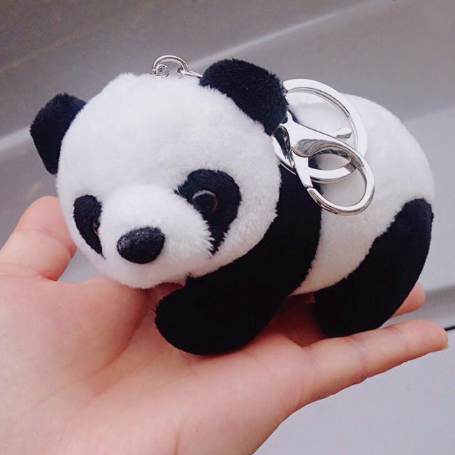 Fashion Plush Animal Panda Keychain Bear Llavero Couple Auto Key Chains Key  Rings Women Porte Clef Charm Car   Bag Pendant Gift 75d77bcba1