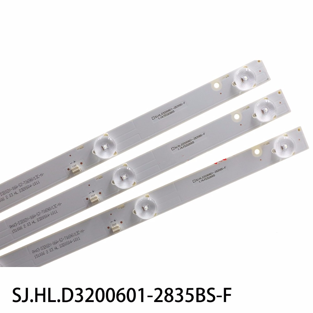 1set 6pieces for New led backlight for 32inch strip LE 8822A SJ HL D3200601 2835BS F