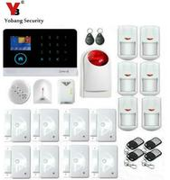 Yobang Sicherheit-APP Steuer WIFI GSM SMS Alarme Wireless Home Alarm Security System Gas Sensor Strobe Sirene Glas Brechen detektor