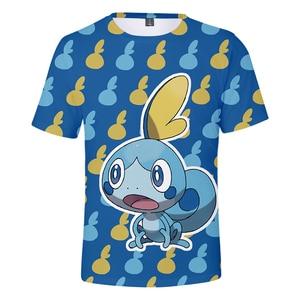 Pokemon Sword and Shield Slim fit 3D Print T-shirt Men/Women Harajuku Fashion Cool Summer tshirt Casual Print Plus Size 4XL(China)