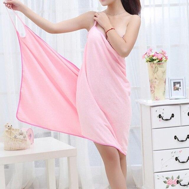 Bath Microfiber Wearable Towel Women Sexy Bathrobe Fast Dry Wash