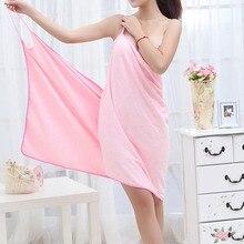Bath Microfiber Wearable Towel Women Sexy Bathrobe Fast Dry Wash Clothing Wrap Bath Towels Robe De Plage Beach Dress