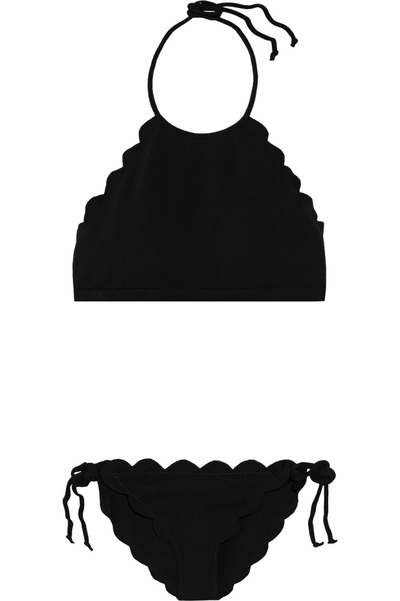 Sexy Bikini traje de baño de las mujeres 2017 de cuello alto negro - Ropa deportiva y accesorios - foto 1