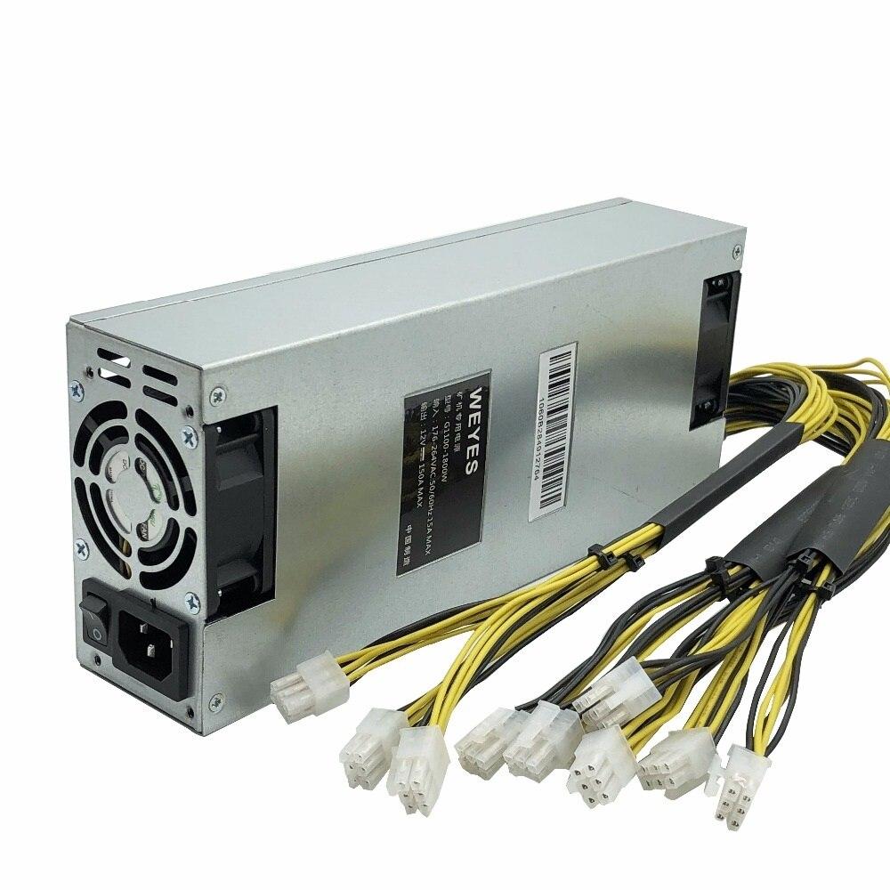 WEYES para Bitmain 1800 W fuente de alimentación de 6PIN * 10 Antminer ETH PSU antminer A4 A6 S7 S9 T9 E9 D3 L3 + S9 G1 G2 fuente de alimentación