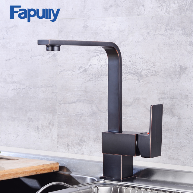 Fapully Bathroom Basin Faucet Mixer Oil Rubbed Bronze Bathroom Sink ...