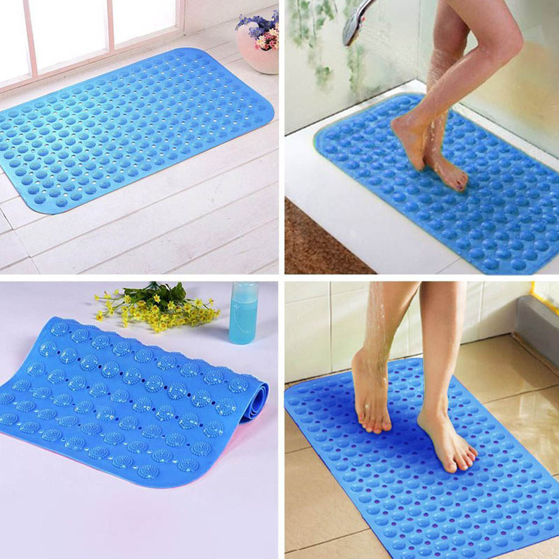 Massage Anti Skid Bath Mat PVC Strong Suction Non-slip Foot Massages Cushion For Bathroom Shower For Foot Care Tool  H7JP