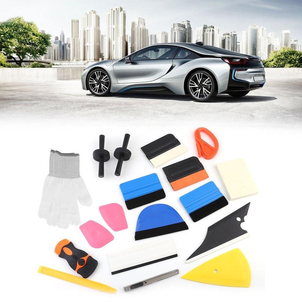 Professionnel Voiture Fenêtre Teinte Outils Véhicule Verre De Protection Film Installation Kit Auto Film Teintés Scraper Voiture Accessoires