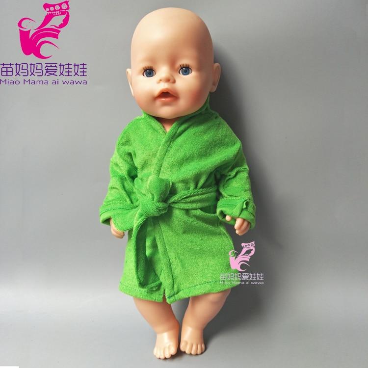 43cm Zapf Baby born dolls Bathrobe clothes for 18 inch dolls accessory