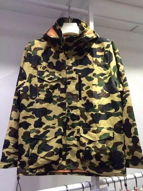 ee14b27997a2e 2016 Hip-Hop swag men bape shark brands baseball uniform street Military  camouflage pocket Print fashion long coat jacket