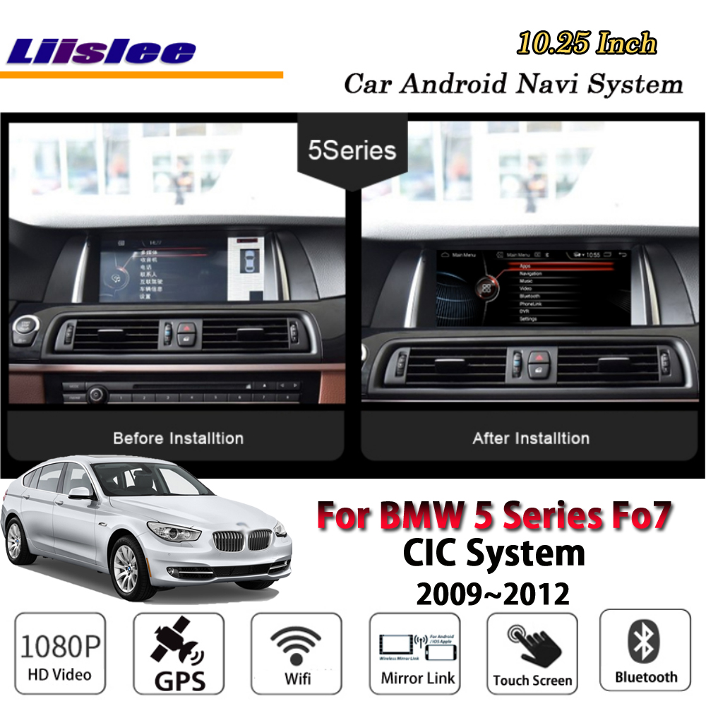 Liislee 10 25 Inch Android Multimedia For BMW 5 Series F07 CIC 2009 2012 Stereo Car