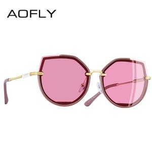 Image 2 - AOFLY מותג עיצוב 2019 אופנה מקוטבת משקפי שמש נשים בציר חתול עיניים משקפי שמש נקבה גווני נשים של משקפיים UV400 A115