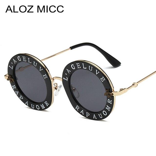 382e684b23f ALOZ MICC Brand Retro Round Letters Sunglasses Women Luxury Letters Clear  Frame Fashion Men Sun Glasses Hot Unisex Eyewear Q167