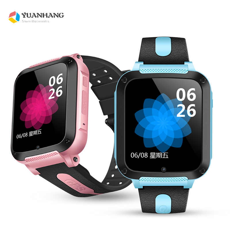 IP67 Waterproof Smart GPS LBS Location Touch Screen SOS Call Remote Monitor Camera Wristwatch Tracker Kids Child Students Watch