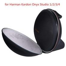 Nova EVA Saco de PU Rígido Capa Caso para Harman Kardon Ônix Estúdio 1, 2, 3, 4 Espaço Extra para Plug & Cabos sem fio Bluetooth Speaker