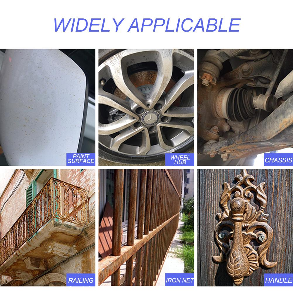 Image 5 - Car Wheel Paint Surface Iron Powder Remover Body Derusting Car Paint Rust Oxide Layer Cleaning Agent Decontamination Car Clean-in Spot Rust & Tar Spot Remover from Automobiles & Motorcycles