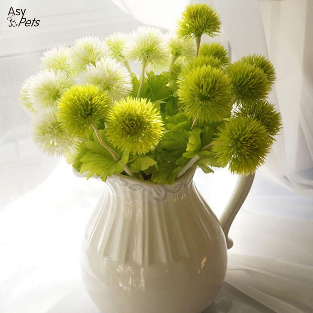 LumiParty Beautiful Exquisite Artificial Dandelion Flower 1 Head Grass Ball Home Garden Wedding Floral Decor-25